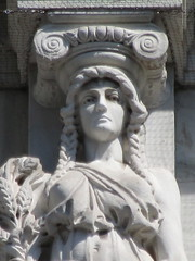 Mysterious Woman Dame Autumn Caryatid NYC 5415 (Brechtbug) Tags: mysterious woman dame autumn caryatid stone ladies courthouse roof statues across from madison square park new york city atlantid 2018 nyc 07152018 art architecture gargoyle gargoyles statue sculpture sculptures facade figures column columns court house law government building lady women figure form far east buildings season seasons fall