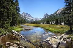 McClure Meadow - John Muir Trail (Bruce Lemons) Tags: sierranevada mountains backpacking hike hiking wilderness landscape california kingscanyonnationalpark mccluremeadow evolutioncreek mtmendal hermit meadow river jmt johnmuirtrail