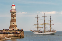 Sorlandet Leaves Roker (kensparnon) Tags: tall ships roker sunderland sorlandet