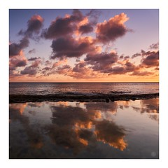 sunset4 (Hamilton Ross) Tags: seascape reflection water pacific ocean okinawa sunset sky orange blue