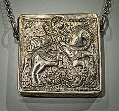 Eastern Christian Necklace with a compartment for magical text Ottoman Mesopotamia or Egypt 18th to 19th century CE Silver (mharrsch) Tags: necklace silver stgeorge christian mesopotamia egypt ottoman compartment 18thcenturyce 19thcenturyce artinstituteofchicago chicago illinois mharrsch
