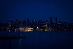 Vancouver's night skyline.  Amazing.