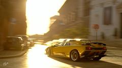 Lamborghini Diablo (Matze H.) Tags: lambroghini diablo vt sv gt sport gran turismo italy sun light motion blur speed scapes wallpaper uhd 4k render