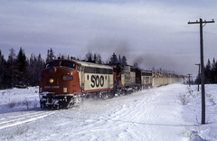 Hot Action on a Cold Day (ac1756) Tags: soo sooline emd f7a 2225a caffey michigan 911 train911 cold winter snow