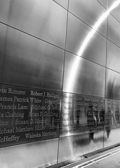 Empty Sky memorial, New Jersey (naebc28) Tags: newyork september11 bw monochrome newjersey memorial