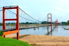 Suspended bridge (Thanathip Moolvong) Tags: bridge river sand suspend tak thailand