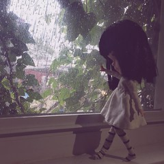 Rainy Days (HaleighCreatesKawaii) Tags: blythe doll basaak kawaii miniatures diorama