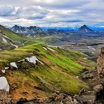 Iceland ~ Landmannalaugar Route ~  Ultramarathon is held on the route each July ~ Hiking from Camp thumbnail