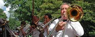 Colin Batt leading the Trombone Section
