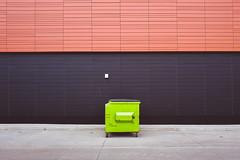 ordinary.time (jonathancastellino) Tags: toronto architcture leica q urbacon data building dumpster gfl line colour pattern green ordinary vernacular street lane laneway ngc