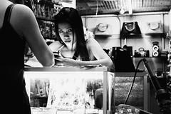Saleslady (Meljoe San Diego) Tags: meljoesandiego fuji fujifilm x100f streetphotography stall eyecontact candid monochrome philippines