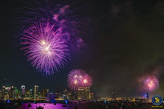 San Diego Big Bay Boom - 4th of July, 2018 - 2 (StarDude Astronomy) Tags: 4th july fireworks show san diego big bay boom county administration building government skyline sky rocketsr red glare fire city festive festivities sony alphy a7riii a7 42 megapixels celebration tom hams lighthouse photography patriot patriotism fourth explosion