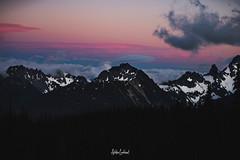IMGP5657 (ashtenphoto) Tags: mountains rainier national park range ridge knife snow clouds sunset color pink orange purple magenta clarity