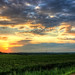 1/2 Summer Sunset over Northern Hardin County, Iowa west of Ackley, IA 6-28-18