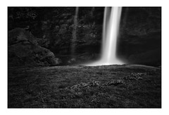 Selandrafoss Up Close & Personal (www.davidrosenphotography.com) Tags: iceland waterfalls water longexposure rocks bw mono monochrome nature travel