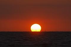 Die Erde ist eine Kartoffel (Lilongwe2007) Tags: deutschland mecklenburgvorpommern poel sonnenuntergang wasser spiegelung windkraftanlagen horizont farben meer ostsee ozean wellen strand urlaub timmendorf