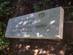 Antioch baptist Church Memorial bench (cizauskas) Tags: history civilrights atlanta georgia candlerpark church park