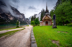 Cappela at Lago di Braies (Siebring Photography) Tags: dolomites franzferdinand italy milan ss wwii worldwarii church mountain mountains prisoners reflection unesco worldheritage prags trentinoaltoadige italië it