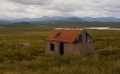 But and Ben (barbaramartin1211) Tags: scotland isleofharris isleoflewis hebrides outerhebrides edgeoftheworld building rusty hills mountains grass