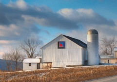 *** (artvbal) Tags: pennsylvania usa barn rural belleville pa artwork photoart topazimpression winter field symbol sky hdr clouds 2017 agriculture