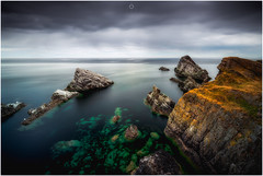 Blue and Green (Augmented Reality Images (Getty Contributor)) Tags: nisifilters benro calm canon cliffs clouds landscape longexposure morayfirth nature portknockie rocks scotland seascape water