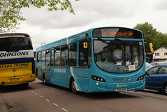 AMN 3805 @ Walsall train station (ianjpoole) Tags: arriva midlands vdl sb200 wright pulsar 2 mx61awp 3805 working west railway rail replacement bus service from tame bridge parkway rugeley trent valley