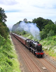 48151 @ Cleatop near Settle (TheRosyMole) Tags: 48151 cleatop settle yorkshire thedalesman railway railroad stanier lms