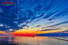 Oswego Harbor Sunset 2018 (Scottwdw) Tags: aurora2018 clouds harbor hdr highdynamicrange lakeontario lighthouse nature newyork oswego sky software spring sunset tripod water nikond750 wideangle nikon1635mmf4vr