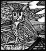 Small detail of larger peice (www.ruffrootcreative.com) Tags: drawing illustration outsider art raw oliverreed eule owl ruffrootcreative ruff root oldman watercolour component crow fogcrow painting witch bully skaghead boscombe bournemouth punk