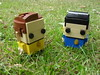 Kirk & Spock (Mister Bricks) Tags: star trek spock space brick headz custom kirk captain