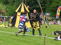 DSCF3887 (SierPinskiA) Tags: ruffordabbeycountrypark rufford knightsofnottingham fujixs1 jousting medieval horse knights goldeneagle falcon