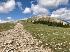 Moose Mountain Hike - A false summit looms ahead (benlarhome) Tags: kananaskis alberta canada braggcreek moosemountain hike hiking trek trekking trail path