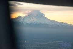 Seeing Mount Rainier in the Sunrise From A Rising #Q400 (AvgeekJoe) Tags: iflyalaska aerialphotograph alaskaair alaskaairlines bombardierdhc8402q bombardierdash8400 bombardierdash8q402 bombardierq400 clouds d5300 dhc8402q dslr dash8 dehavillandcanadadhc8402qdash8 horizonair mountrainier mtrainier n446qx nikon nikond5300 propliners q400 aerial aerialphoto aerialphotography aircraft airplane aviation lenticularclouds plane propliner turboprop volcano tamron18400mmf3563diiivchld tamron18400mm