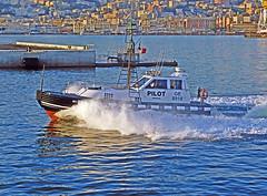 18063000976battello (coundown) Tags: genova battello porco panorama scorci barca barche navi lanterna spiagge viste pilota pilot
