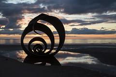 Mary's Shell (David Chennell - DavidC.Photography) Tags: marysshell cleveleys lancashire beachart silhouette shell reflection goldenhour twilight