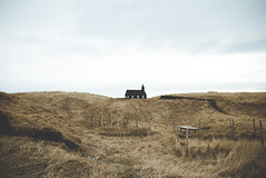 Lonely (lu★) Tags: iceland peninsula church budir black lost