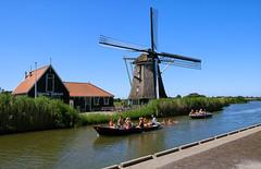 Dutch summer (Julysha) Tags: summer july canal boats people mill riet water thenetherlands noordholland oterleek d850 nikkor247028 acr nikon holland dutch sunny bluesky schermer