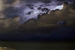 Avoiding the Clouds (lightonthewater) Tags: lightning light clouds thunderstorm storm beach gulfofmexico santarosabeach florida floridathunderstorm