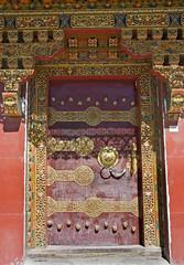 Ornate doorway (bag_lady) Tags: ornatedoorway buddhist doorway brass tibet buddhism ancientdoorway ornate decorated design gyantse