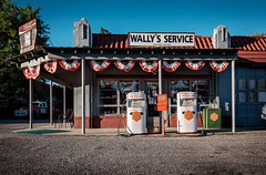 Wally's Service Station - Mt. Airy, NC. (Mr. Pick) Tags: mtairy nc northcarolina wally wallys service station gas esso gulf mayberry andy griffith gomer goober