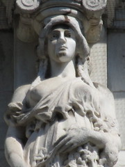 Mysterious Woman Dame Spring Caryatid NYC 5426 (Brechtbug) Tags: mysterious woman dame spring caryatid stone ladies courthouse roof statues across from madison square park new york city atlantid 2018 nyc 07152018 art architecture gargoyle gargoyles statue sculpture sculptures facade figures column columns court house law government building lady women figure form far east buildings season seasons springtime