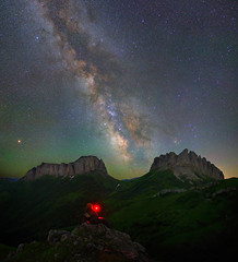Acheshbok and astrophotographer ll, Nature Park Thachi, Adygea republic (Mike Reva) Tags: astronomy astrophoto astrophotography astro stars sky stargazing stillness samyang24 starrynight starry night nightsky nature nghtsky nightscape constellations countryside canon6d samyang samyang24mm satellite