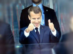 El Presidente (knightbefore_99) Tags: french france team winner best cool bleu russia 2018 worldcup awesome football futbol macron president up thumbs screenshot tv