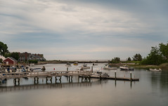 spooky harbor (Brinkervelt.) Tags: kennebunkport maine shutter exposure harbor boat boats sky clouds moody nd filter