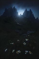 [ ... the devil peaks ] (D-P Photography) Tags: landscape landschaft italien italy dolomites dolomiten cardini di misurina night glow dark dennispolkläser dpphotography feisol canon leefilters hiking adventure dawn