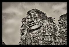 Siem Reap K - Bayon stone face 05 (Daniel Mennerich) Tags: siemreap cambodia khmer angkor bayon
