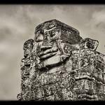 Siem Reap K - Bayon stone face 05 thumbnail