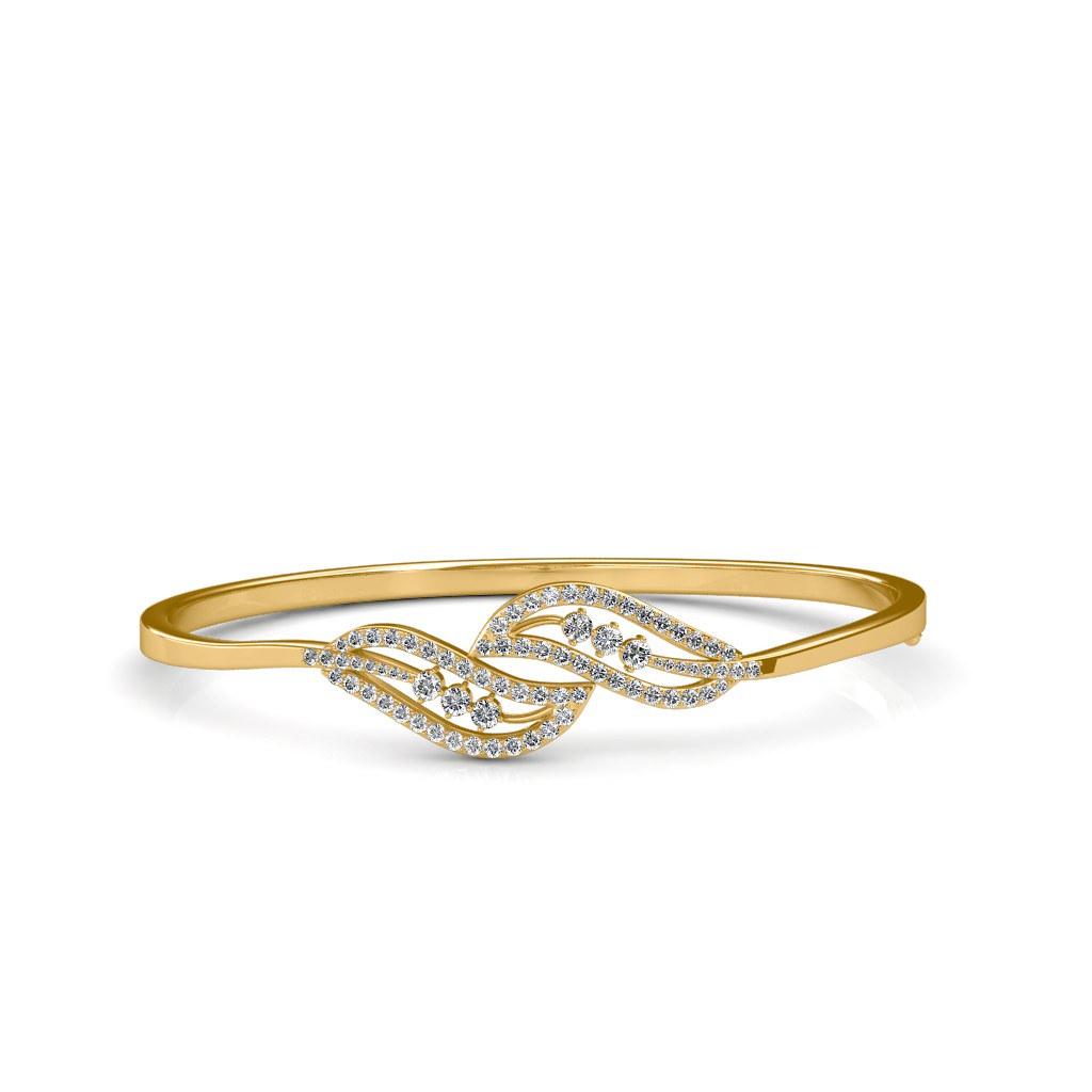 276f4af3671 Real 18K Yellow Gold Round Diamond Bracelet (shah.ishaan999) Tags  sarvadajewels  bracelet