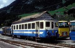 MOB 1003  Chateau d`Oex  26.07.93 (w. + h. brutzer) Tags: chateaudoex eisenbahn eisenbahnen train trains schweiz switzerland railway triebwagen triebzug triebzüge mob webru analog nikon