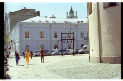Kostyantinivska st. (mgerasym) Tags: kyiv kiev ua ukraine ukrainenowua nikonf70 voigtlandernokton58mmf14slii lomographycn100 film 35mm